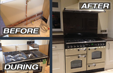 gas cooker install